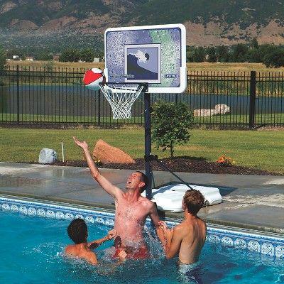 Lifetime Impact 44″ Poolside Basketball Hoop, Black/HYPER Orange I