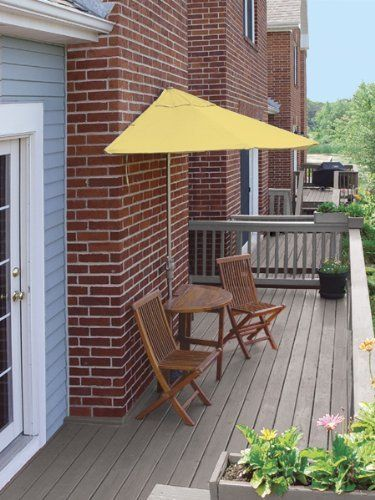 5 Piece Oval Deluxe Nyatoh Wood and Yellow Sunbrella Patio Furniture Set 7.5' by CC Home Furnishings. $1264.99. Nyatoh Wood Patio SetItem #TMBD7SYEnjoy urban outdoor leisure living at its very best with this 5-piece wicker patio set. Condominium and townhouse dwellers can transform a long ignored patio, deck or veranda into a vibrant addition to their lifestyleDesigned to stand without attachment in front of a wall, window or sliding glass doorWhen not in use the umbrella...