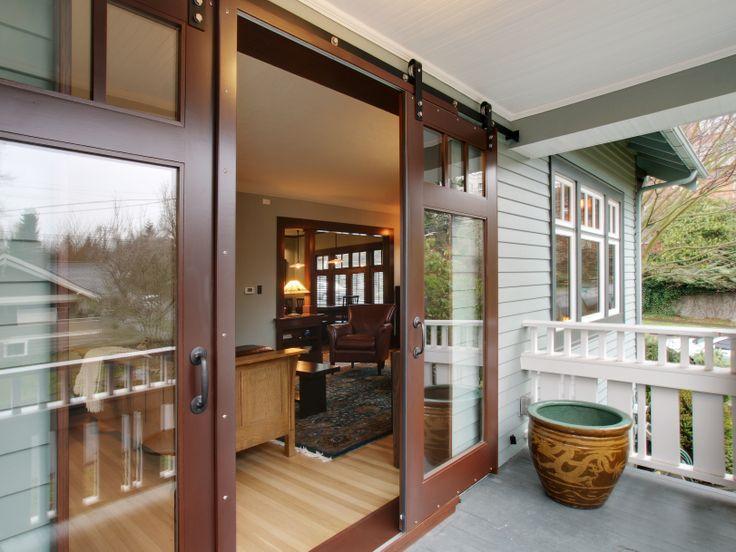 19 best sliding barn doors images on pinterest for Sliding barn doors for patio