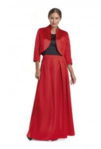 kokkini konti vradini zaketa red Women's clothing economically in large sizes
