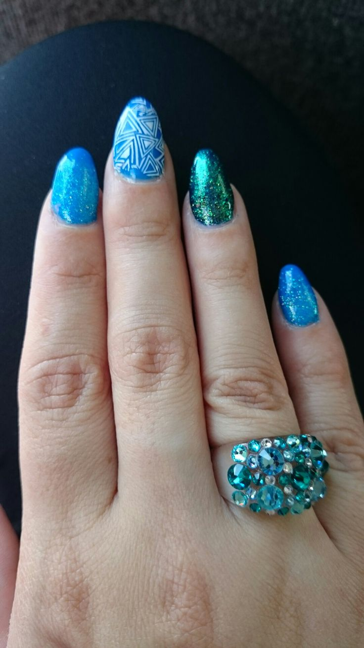Blue and glitter