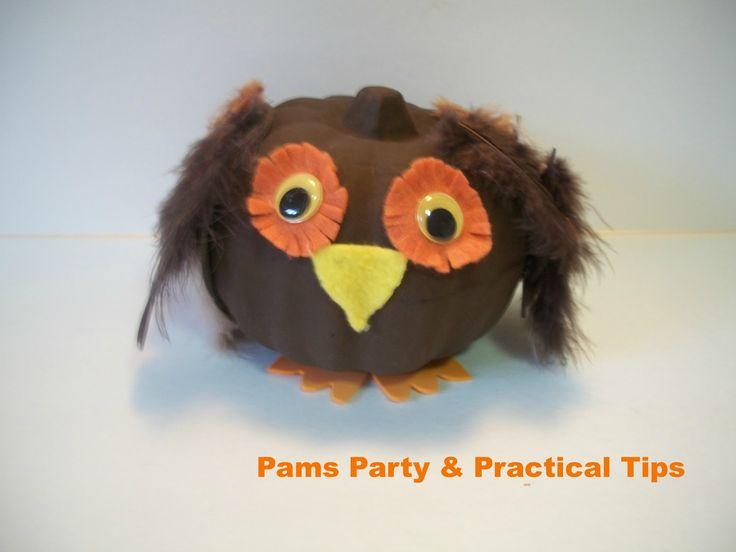 owl pumpkins for halloween | Countdown to Halloween-Owl Pumpkin