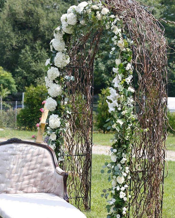 wedding decor, flower arcade