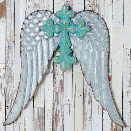 Wings of an Angel Wall Decor- Angel wings are a beautiful and simple art piece for any space that needs an uplifting accent