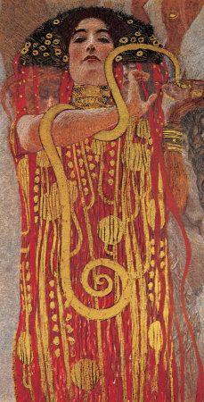 Hygieia detail from Medicine by Gustav Klimt