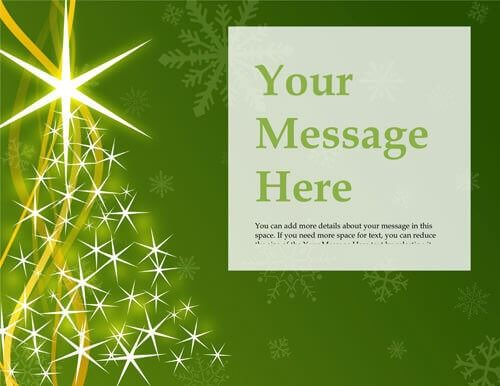 Christmas tree green flyer free template