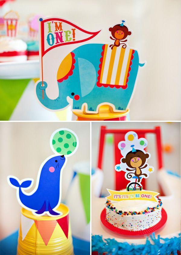 Bright & Colorful Big Top Birthday {Circus Animals}