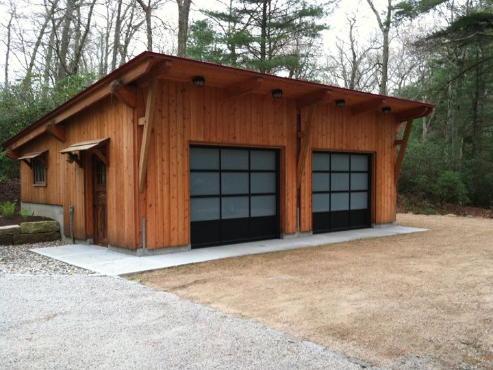 25 best ideas about timber frame garage on pinterest for Garage column wrap