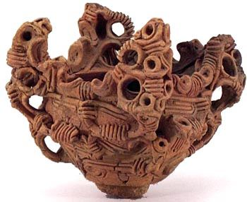 Jomon Period Japanese Pot with Whorl Design 3000–2000 BC