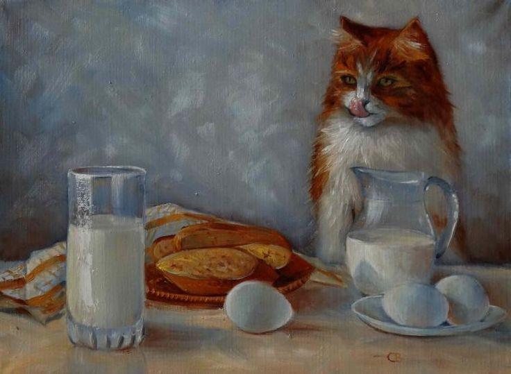 Разумова Светлана. Завтрак с рыжим котом