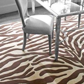 Tufted Zebra Brown/Beige Area Rug