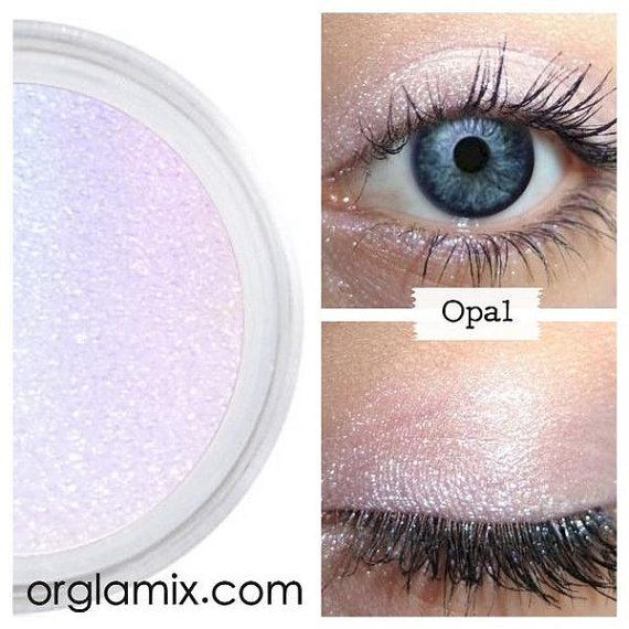 Eyeshadow, Opal, Opalescent Eye Shadow, Mineral Eyeshadow, Mineral Makeup, Vegan, Cruelty Free, Eye Makeup, Iridescent, Duochrome Opal Eye Shadow! Taking inspiration from natures rainbow gemstone, this shade displays a distinctive, vibrant flash of colors of the opal. Its iridescent ability