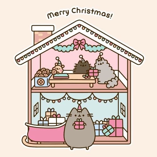 Pusheen the cat | merry christmas