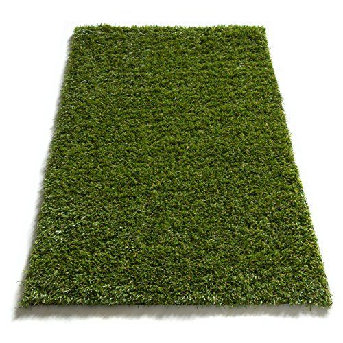 "Super Lawn Artificial Grass Mat Indoor / Outdoor Rug Synthetic Turf Fade Resistant Easy Care 20""x31"" Mat  Thick, lush 20mm (0.8"") pile height. Non-toxic, eco-friendly polyethylene pile.  UV resistance prevents fading and promotes longevity. Synthetic material won't stain.  Densely woven, multi-tone blades with thatching for a natural look.  Rubber coated backing is rugged, durable, and features drainage holes to prevent water pooling.  Artificial material is naturally resistant to bact..."