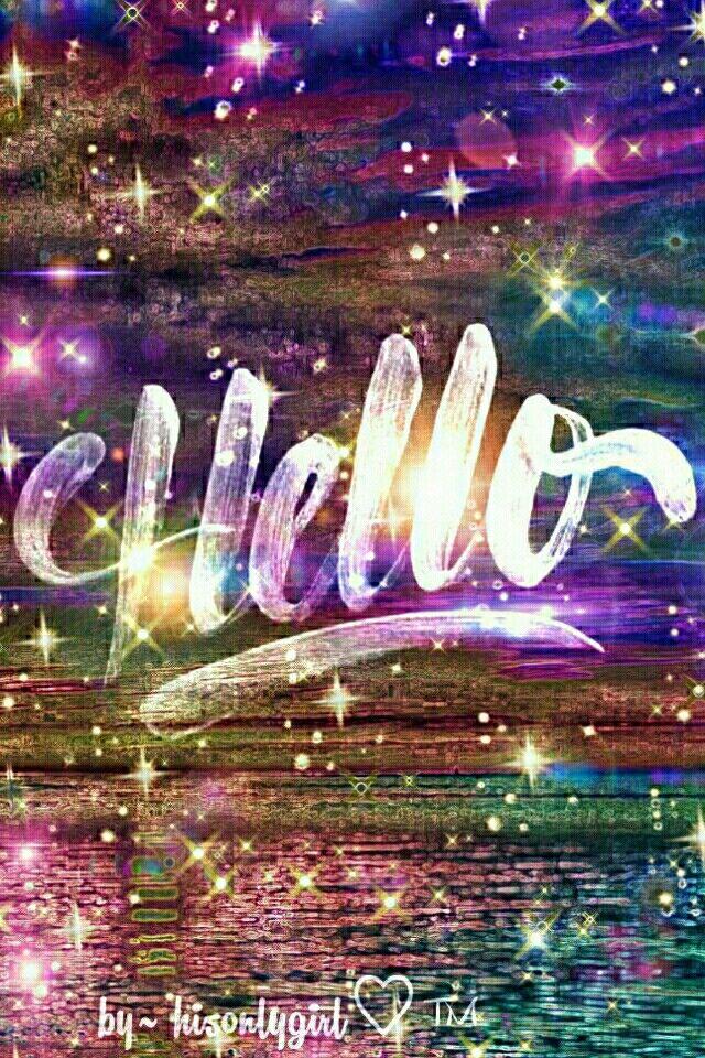 HELLO galaxy wallpaper I created for the app CocoPPa.