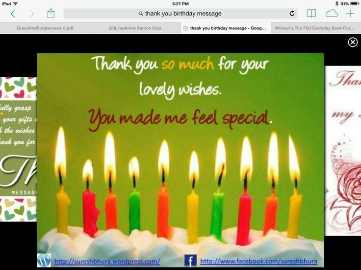 The 25 best Thanks for birthday wishes ideas – Thank You Message for My Birthday Greetings