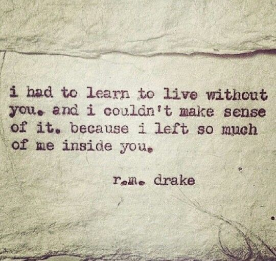 R.m. drake....I did it once and I can do it again