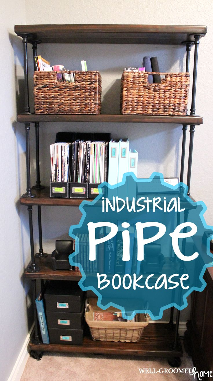Sources - How to make an industrial pipe bookcase that doesn't break the bank.
