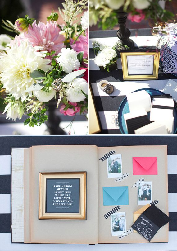 one-of-a-kind guest book idea. such a great way to really get the guests involved
