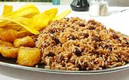 """Costa Rican Gallo Pinto (""""secret"""" ingredient is Salsa Lizano--How could I have forgotten about this stuff??)"""