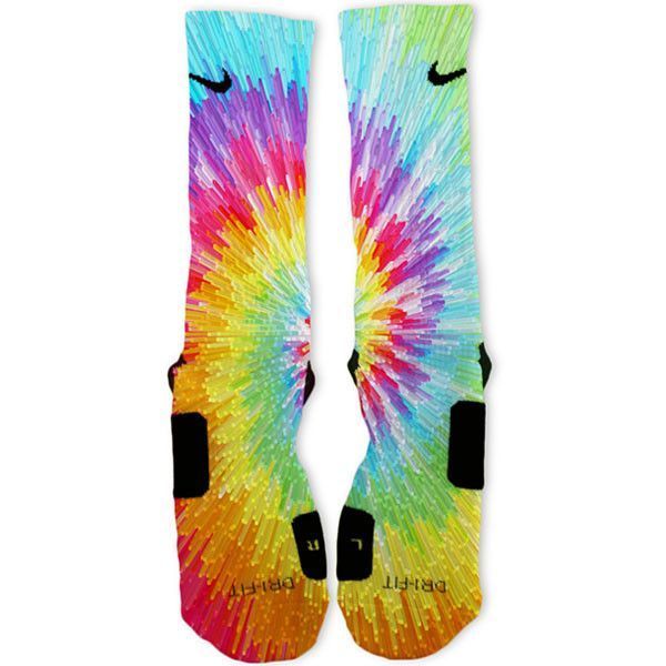 Tie Dye Blast Custom Nike Elite Socks