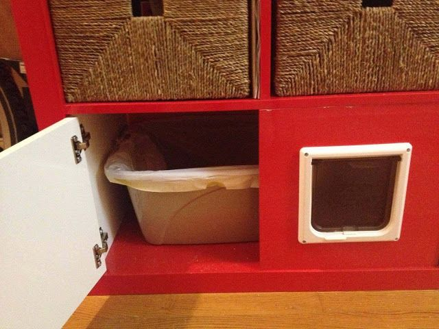Ikea hackers expedit shelving unit total kitty litter for Ikea box shelf unit