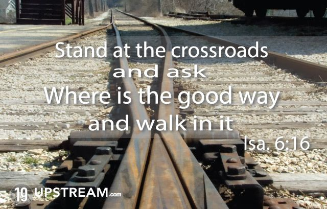 Comparison of man at the crossroads