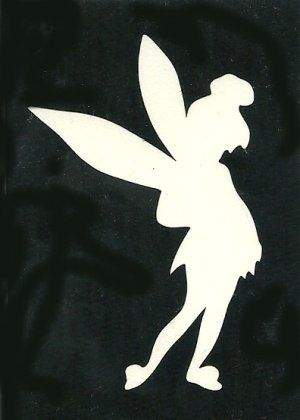 Fairy stencils tinkerbell fairy adhesive stencil for Tinkerbell pumpkin template free