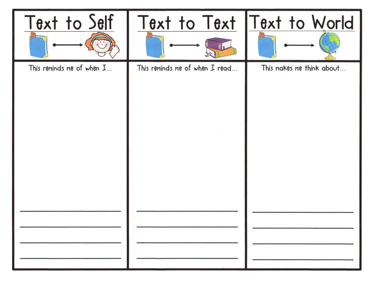 Student response sheet to illustrate and write about reading connections.