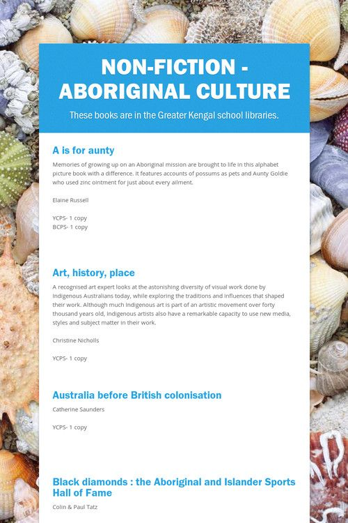 Non-fiction - Aboriginal culture