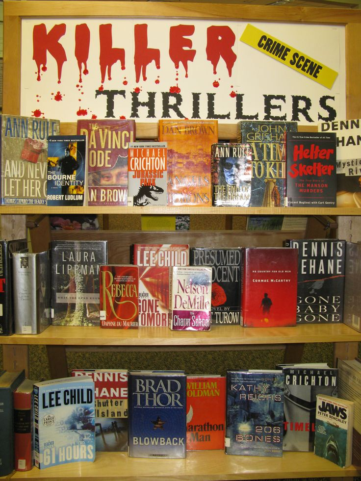 Westwood Library Halloween Book display made with my Cricut  - KILLER THRILLERS.  Can also be used other times of the year. - KC