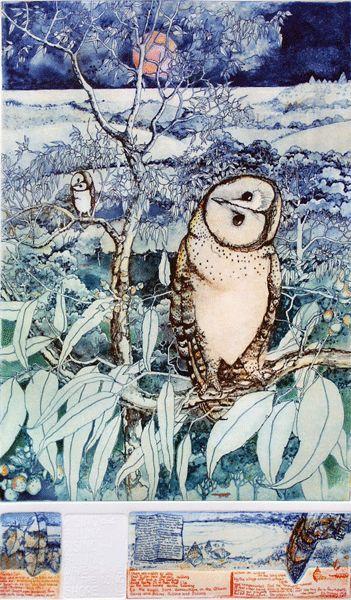 Janet Ayliffe's beautiful etching