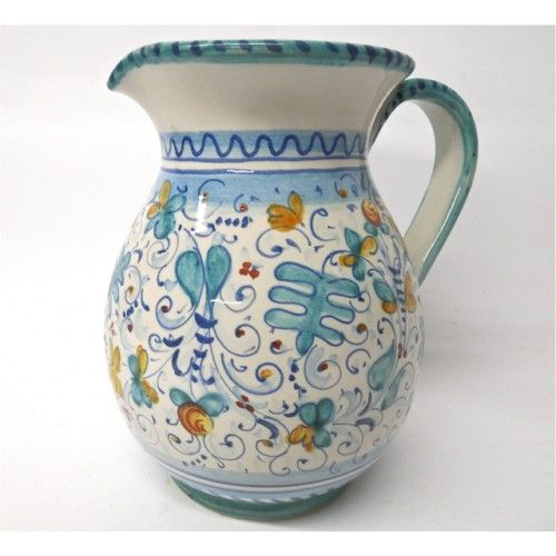 Hand Painted Olive Oil Container Italy