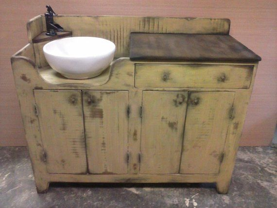 Large Primitive Dry Sink With Functioning Faucet Dry Sink Primitive Bathrooms Sink