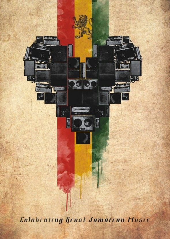 International Reggae Poster Contest 2013 by Daniel Sanches, via Behance