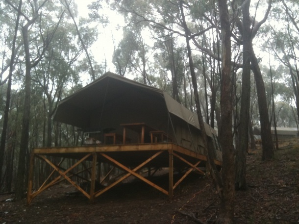 One of the Eco tents at Sense of Place Eco Retreat