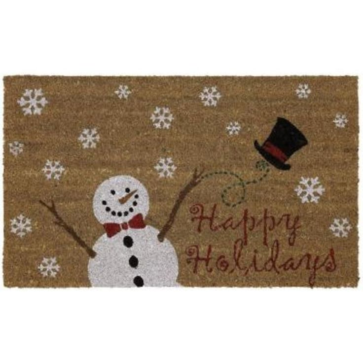 New 29 Quot X 17 Quot Holiday Snowman Christmas Coir Doormat