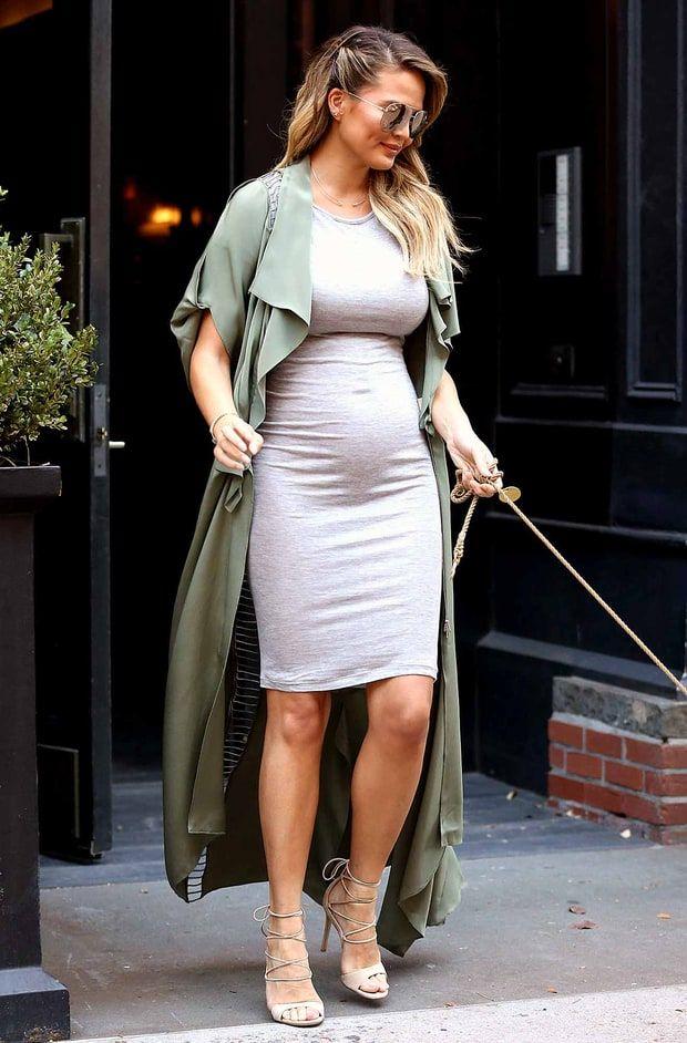 Chrissy Teigen's Best Maternity Styles Puppy Love
