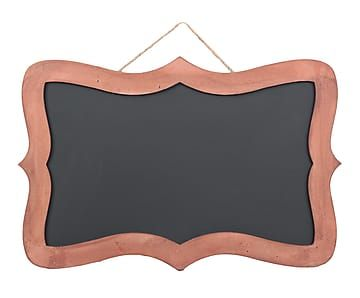 20€ Pizarra enmarcada en madera DM, rosa Samantha - 40x60 cm