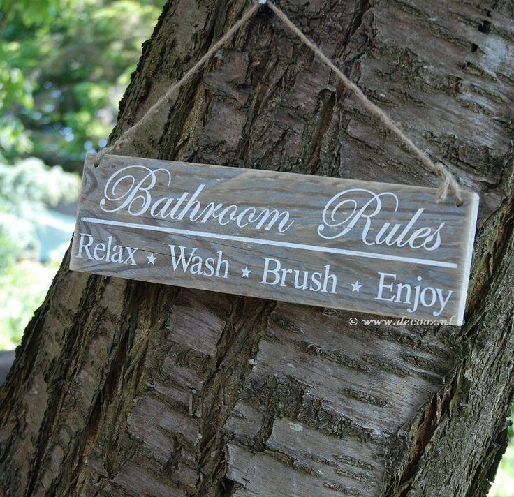 'Bathroom Rules' - www.decooz.nl