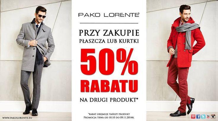 Macie już swoje idealne kurtki na jesień? Mamy dla Was specjalną ofertę. Więcej szczegółów w salonach Pako Lorente.