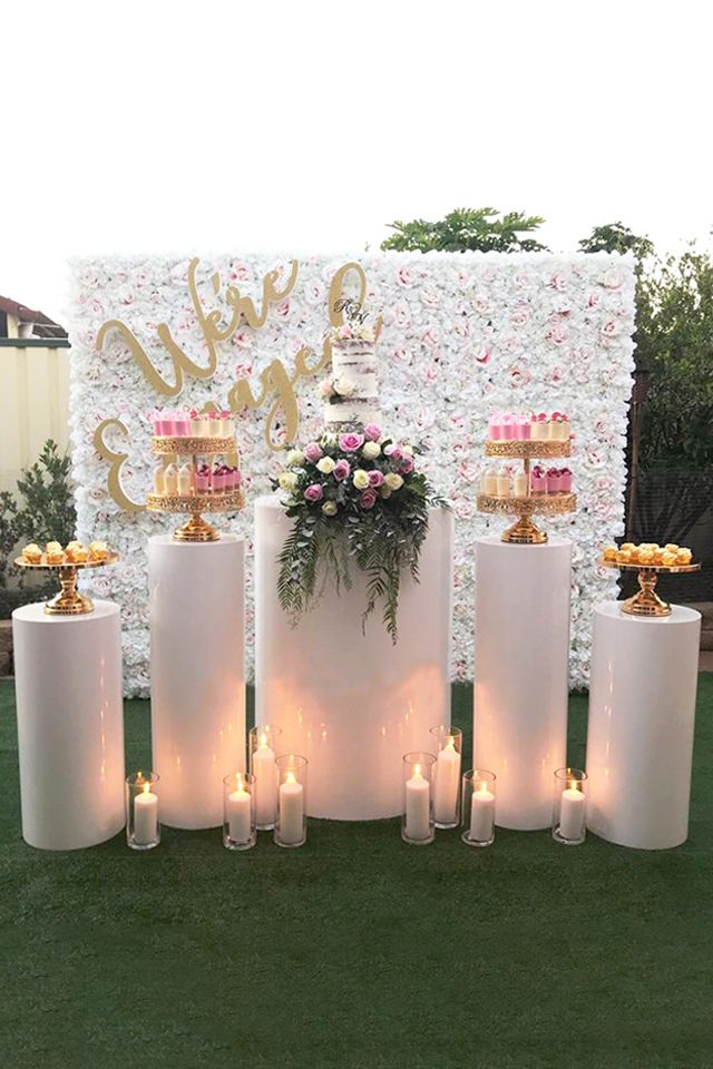 12 Inch Shiny Metallic Mirror Top Cake Stand Gold Plated Garden Engagement Party Engagement Party Table Engagement Party Dessert Table
