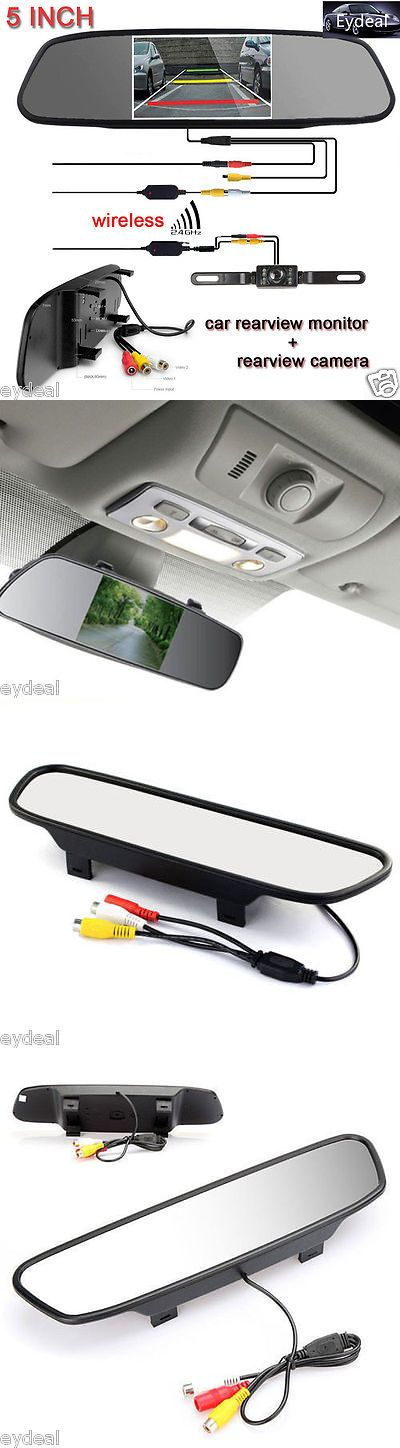 Rear View Monitors Cams and Kits: 5 Tft Lcd Car Rear View Mirror Monitor+Wireless Backup Camera Kit Night Vision BUY IT NOW ONLY: $42.97