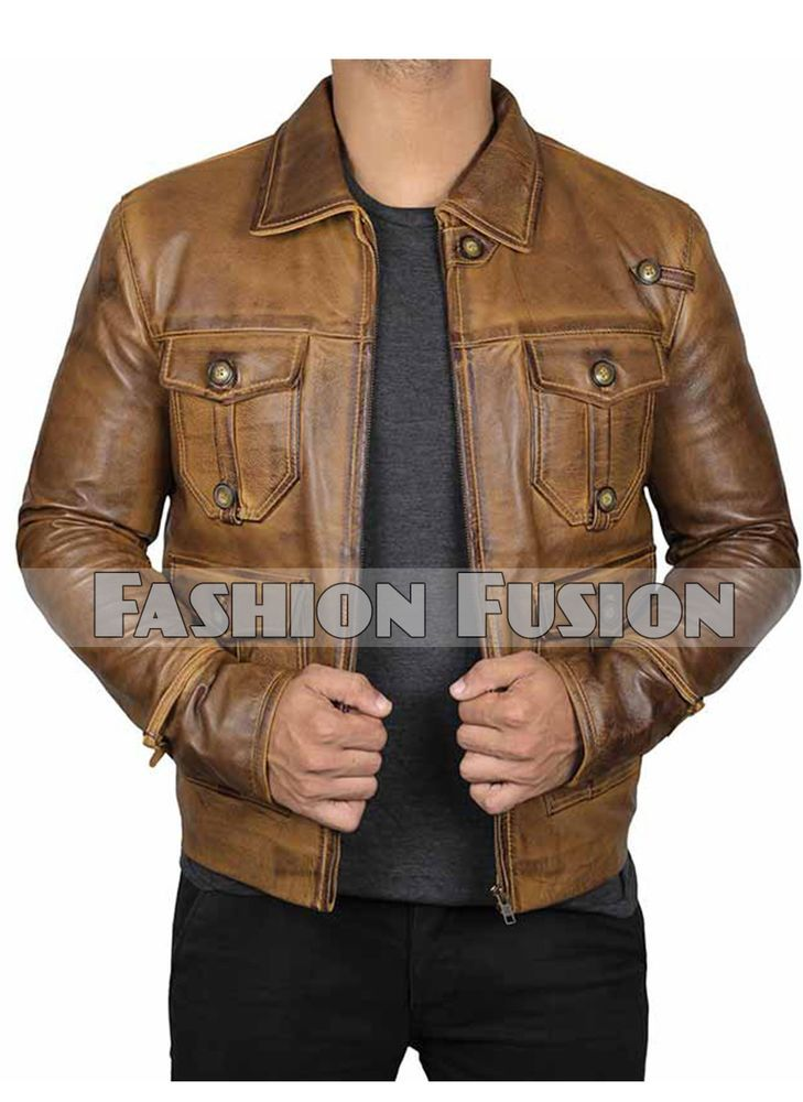 0c41f1601bf Product Details   Materials   Real Leather Inside  Viscose Lining Collar   Lapel Collar Closure  YKK Zip Pockets   Four Button outside pockets and two  inside ...