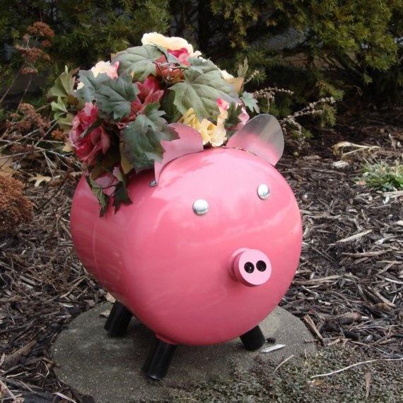 Pink Garden Planters: 86 Best Piggy Gardening / Planter Images On Pinterest