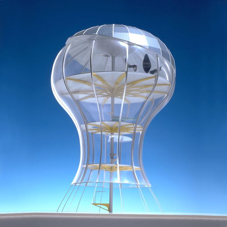 Solar Seed Architecture concept for a wholly autonomous nomadic structure, 1999 (Concept arhitectural pentru o construcție complet autonomă și mobilă.) designer: Ross Lovegrove