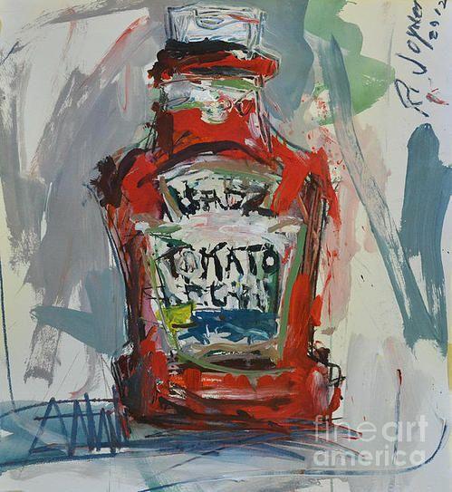 Abstract Still Life Painting Print By Robert Joyner
