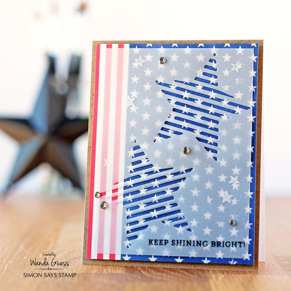 Simon Says Stamp August Card Kit. Project by Wanda Guess!