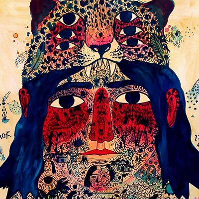 Ricardo Cavolo desenvolveu um estilo único, no qual ele usa tatuagem e uma série de símbolos metafóricos para contar uma história inteira de vida, através de um único retrato.
