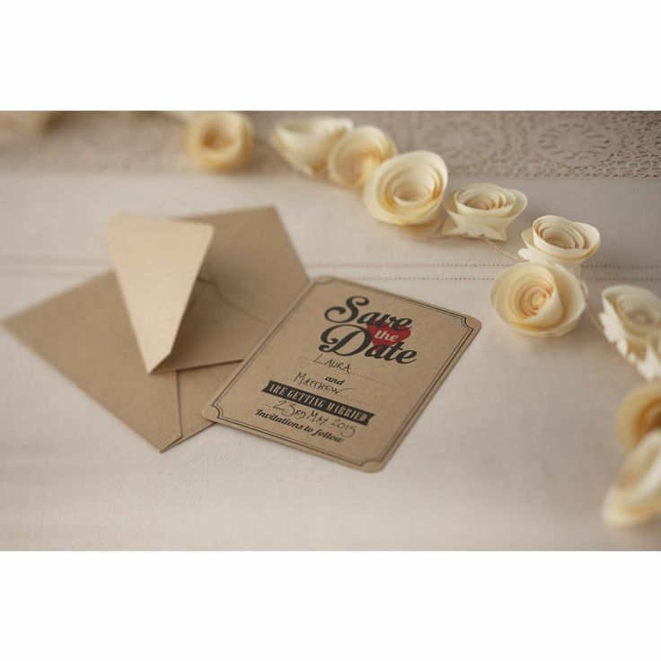 sample wording for save the date wedding cards%0A Vintage Affair Save The Date Cards    Pack    X      Hobbycraft   weddinginvitation